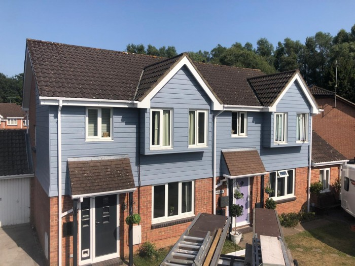 Two Modern Properties transformed using Cladding from Cedral, Totton, Hampshire